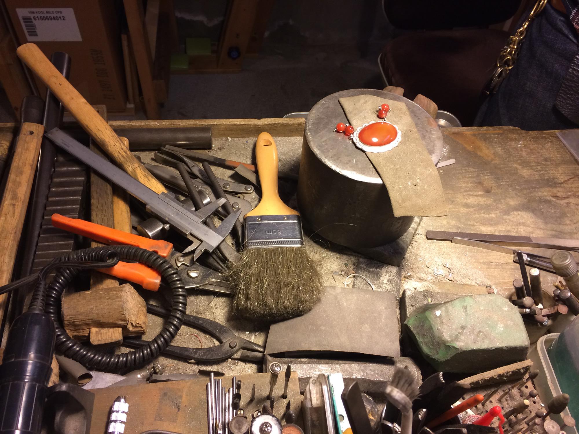 細工のための道具たち
