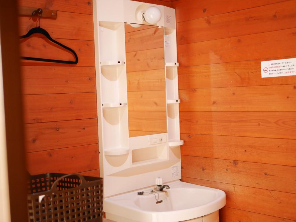 貸切風呂の洗面所