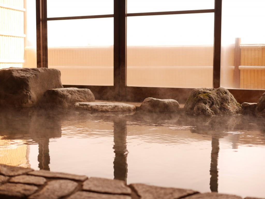 山の湯の展望岩風呂